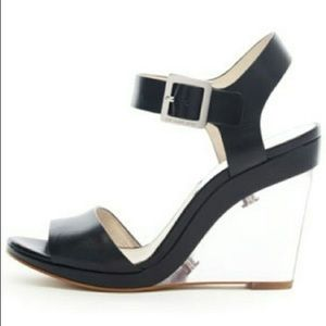 Michael Michael Kors Black wedges with clear heel